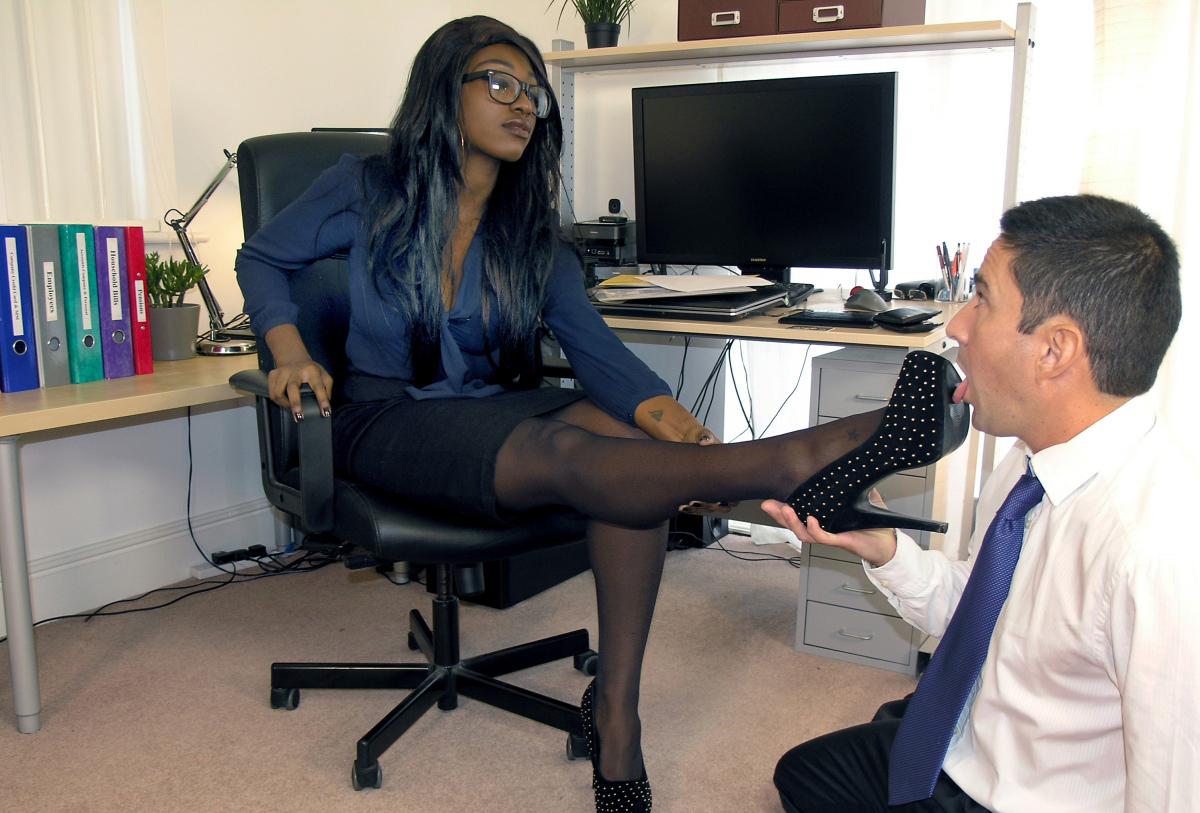office foot femdom